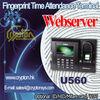 U560 Webserver Fingerprint Time Attendance Terminal - ID/HID/Mifare card/WIFI