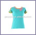 2012 lady girl stripes top summer cotton t shirt