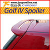 Fiberglass golf IV car spoiler rear spoiler roof spoiler for VW