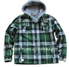 Men's hoody sherpa flannel shirt