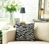 Velvet flocking cushion and cushion cover