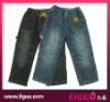 Boys elastic waist jeans with polar fleece lining