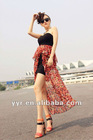 2012 Summer stylish sexy irregular wrapped chest slimming maxi long dress