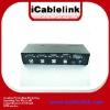 black 4 port usb auto kvm switch