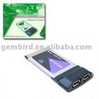 PCMCIA-FW2 FireWire Card Bus PCMCIA card 2 FireWire ports