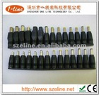 28 different size DC female connector Socket tips kit,with 5.5 x 2.1mm Female Jack. For universal AC and DC power adapters