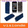 New Cute Purple Leopard Hard PC Protector cover case for iphone5 Free Shipping