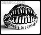 SKULL RING VINTAGE STEEL RING R-002