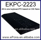 Special All in One Keyboard PC based on VIA Nano