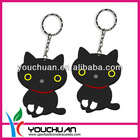 Girls Lovely Cat Silicone Key Chain for Gift