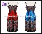 hot wholesale smocked dresses with flora printing