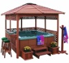 KD-888 outdoor gazebos of wood