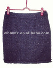 wool fancy yarn office dress for women