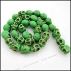popular skull turquoise stone bead LaLang110280