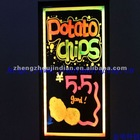 led illuminated menu board for restaurant