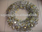 shiny tinsel decorative garland