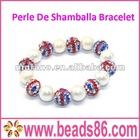 Perle De Shamballa Bracelet with Crystal Ball BD-022
