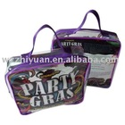 PVC Stationery Bag with Zipper and Strap Handle