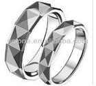 Tungsten finger ring gold tungsten ring jewelry fashion black tungsten diamonds finger ring