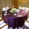 romantic two tone purple colored taffeta of wedding table cloth fabric