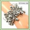 Fashion stretch bracelets/CCB decorated /Silver tone