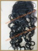 Malaysian virgin hair Coarse Yaki curl lace top closure with pu