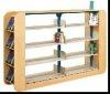 wooden design children double Book Shelf/kid`s book shelf /children furniture