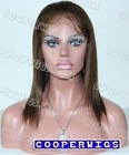 Wholesales 4# color 10inch 100% Indian remy hair lace wigs