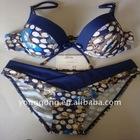 gold blocking printed lady's fashion micro bikini