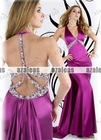 AZP037 Halter Mermaid Silk satin Prom dress 2013