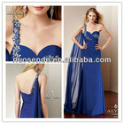 Royal Blue Evening dresses 2013 Beaded one shoulder Evening Gowns 2013