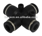 4 ports plastic pneumatic air fittings