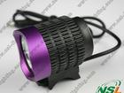 CREE XML XM-L T6 2000LM HeadLight HeadLamp with 4x2200mA Rechrageable Battery Purple+Black LED Bike Bicycle Light