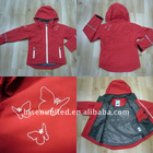 Children's coated outdoor jacket with hood