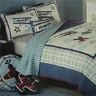 Kids quilt/airplane pattern/Boys patchwork quilt set