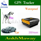 250hours Standby IPX6 Waterproof Pets Mini GPS Tracker
