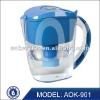 Alkalline ionized water filter pitcher