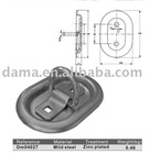 Dm04027, used for truck body parts, zinc plated steel lashing ring