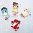 Little doll pendant keychains,knitted doll keychain