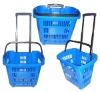 2 wheels Rolling shopping basket