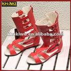 khaki wholesale fashion high heel summer kid shoe