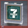 Crystal rectangle plexiglass paperweight with logo