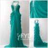 Designer Halter Backless Chiffon Evening Dress