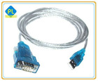 Blue color RS232 To USB Data Transfer Converter for Computer