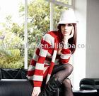 8KN075New! Striped Long Cardigan