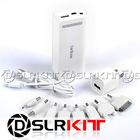White 5200mAh External Battery Charger Power Bank for Apple PSP Mini Micro USB