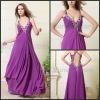 Cheap Purple Halter Chiffon Long Evening Party Dresses