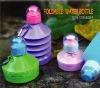 fashion plastic foldable sport water bottle in outdoor