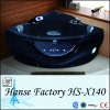 Very cool black massage pool,jacuzzi function black pool HS-X140