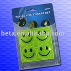EN13356 Reflex Smile Face Stickers